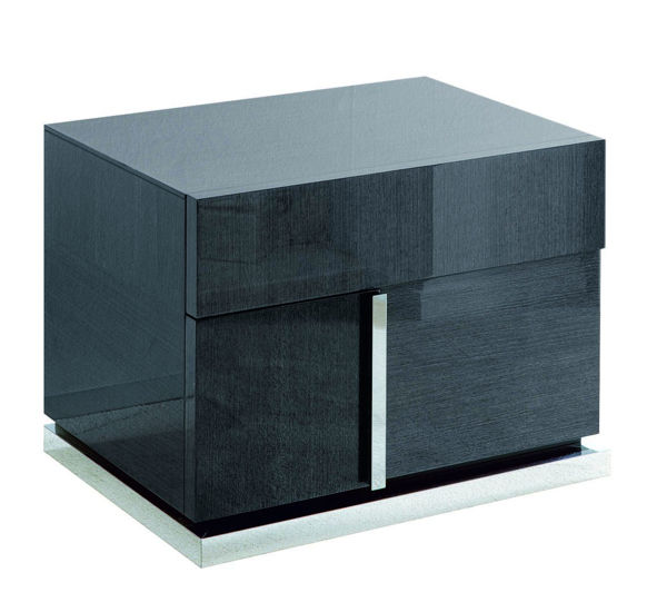 Picture of Monte Carlo Koto High Gloss 2 Drawer Left Nightstand