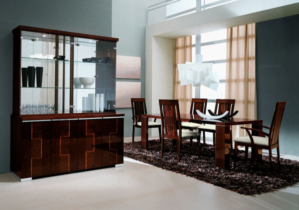 Picture of Pisa Walnut Canaletto-Zebrano High Gloss Hutch
