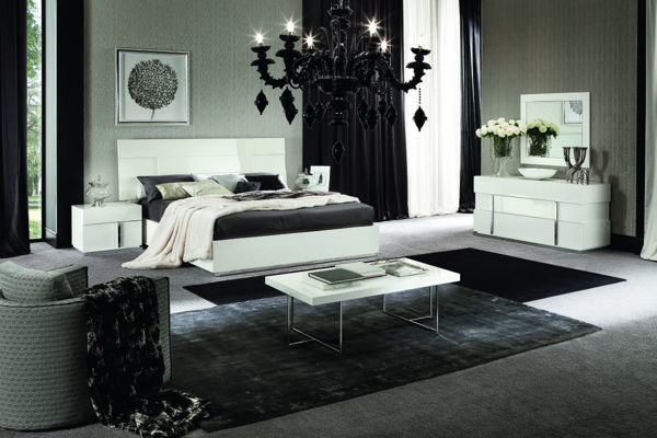 Picture of Canova White High Gloss 3 Drawer Dresser