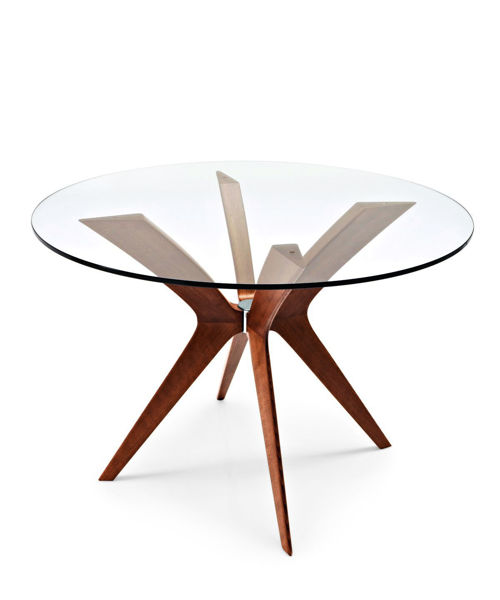 Picture of Tokyo Round Glass Top Dining Table