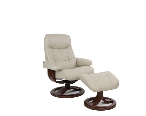 Picture of Small Brown Muldal Classic Comfort Chair with Ottoman