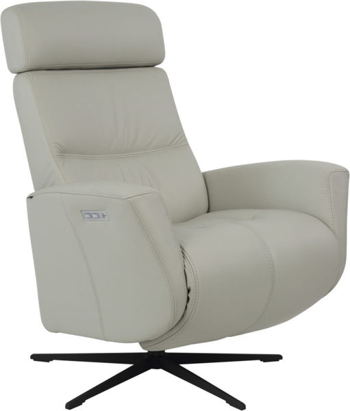 Picture of Medium Black Magnus Modern Recliner Collection