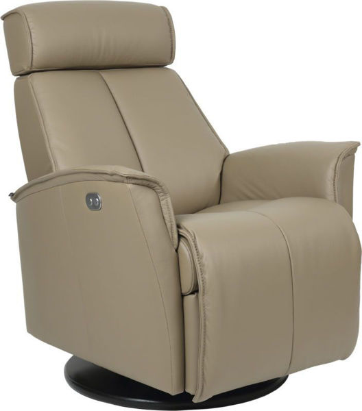 Picture of Small Grey Venice Power Relaxer Recliner
