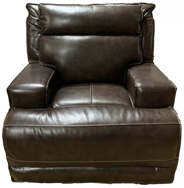 Picture of Leather E1270 Contemporary Electric Motion Recliner with Track Arms and USB Port