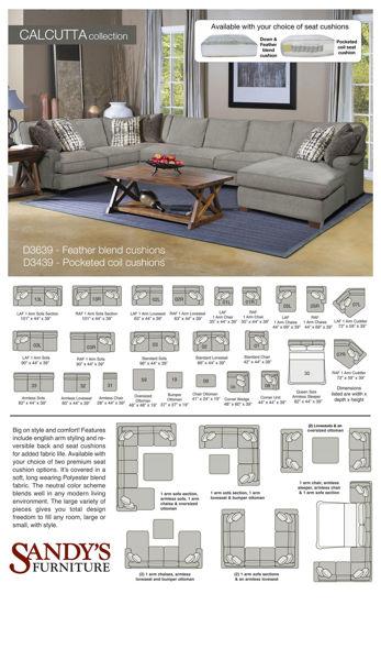Picture of Calcutta Fabric Sofa