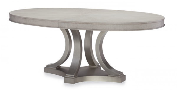 Picture of Cinema By Rachael Ray Shadow Grey Finish Oval Dining Table