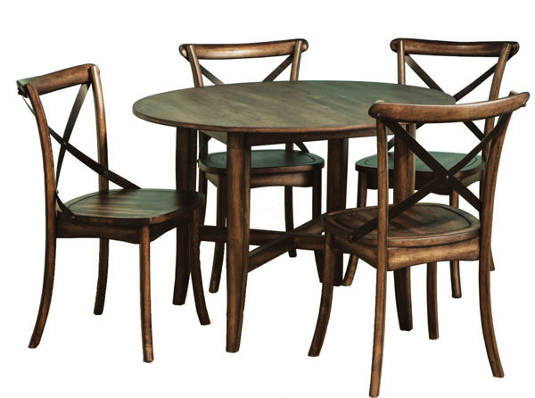 "Picture of Lindsay 42"" Round Wood Dining Table"