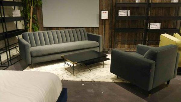 Picture of Dark Green Velvet Sofa