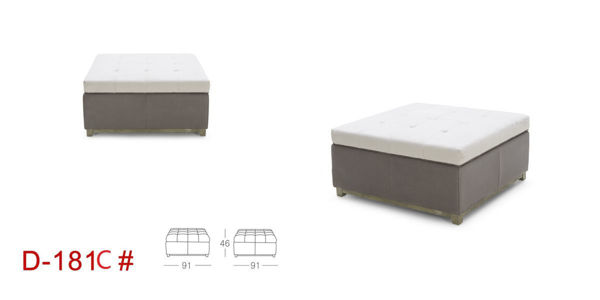 Picture of Grey Fabric Ottoman