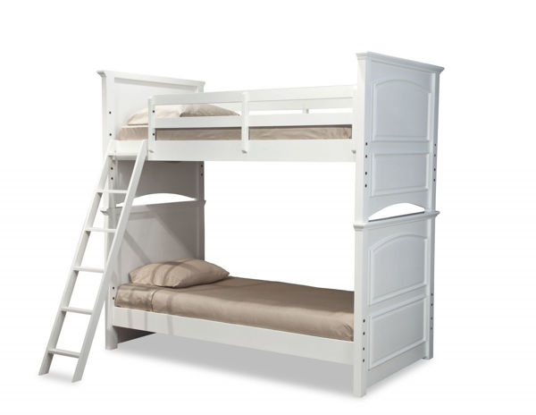 Picture of Madison Natural White painted Finish Twin over Twin Bunk Bed