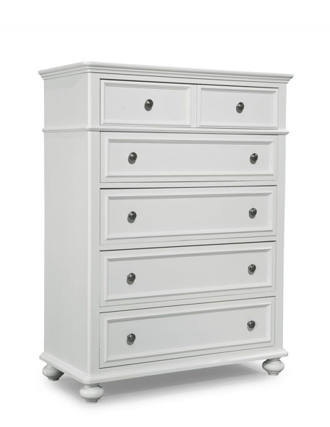 Picture of Madison Natural White Painted Finish Chest of Drawers
