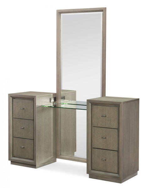 Picture of High Line By Rachael Ray Greige Finish Vanity with Mirror