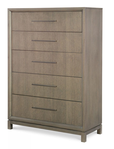 Picture of High Line By Rachael Ray Greige Finish 5 Drawer Chest