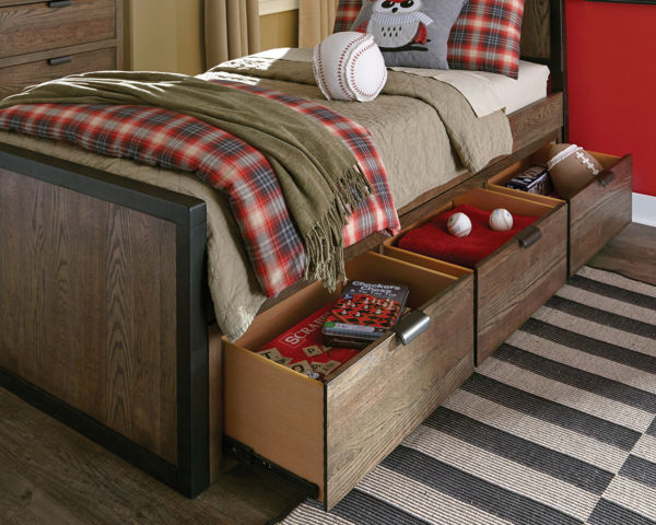 Picture of Fulton County Tawny Brown Finish Underbed Storage Drawer