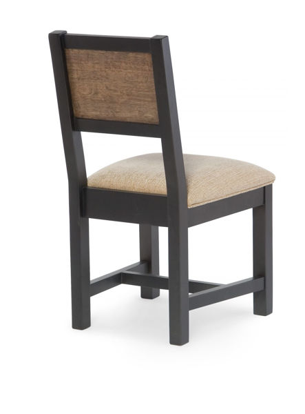 Picture of Fulton County Dark Brown and Tawny Brown Finish Desk Chair with an Upholstered Seat