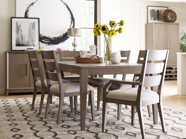 Picture of High Line By Rachael Ray Greige Finish Leg Table