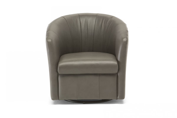 Picture of Natuzzi Ediitons A835 Veronica Brown Swivel Chair