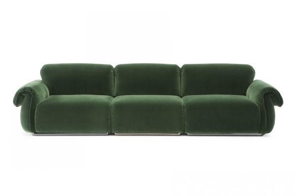 Picture of Natuzzi Italia Icon dark grey fabric sofa