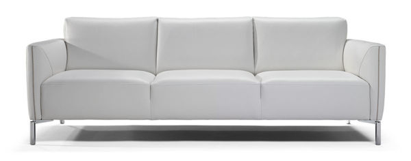 Picture of Natuzzi Italia Tratto, white leather sofa