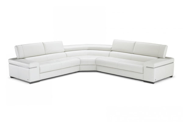 Picture of Natuzzi Italia Avana White Leather Sectional