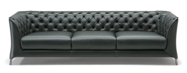 Picture of Natuzzi Italia La Scala Burgandy Leather Sofa
