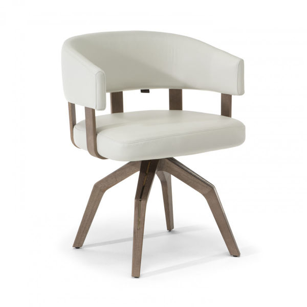 Picture of Natuzzi Italia Valle White Leather Dining Chair