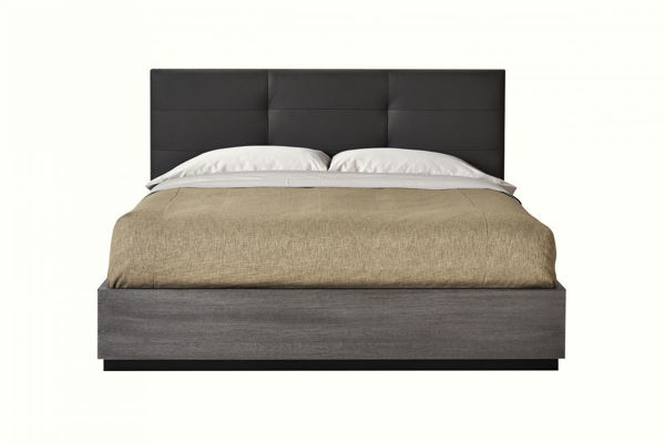 Picture of Evoke King Panel Bed with Upholstered Headboard