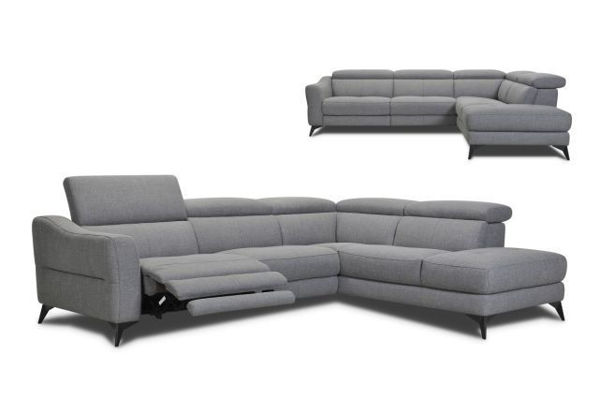 Picture of Leather Sectional with Dual Power in Head and Footrest