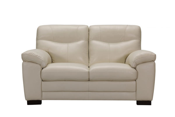 Picture of Ivory Leather Loveseat