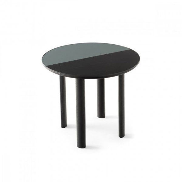 Picture of Bam Round Black and Grey Side Table