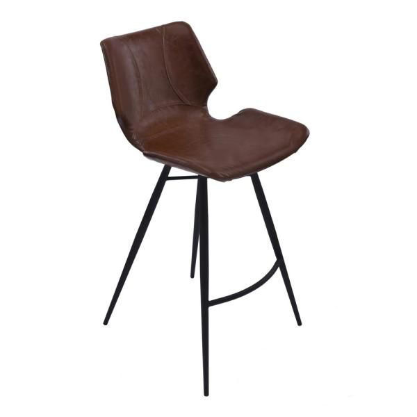 """Picture of Zurich 26"""" Stool, Black & Coffee"""